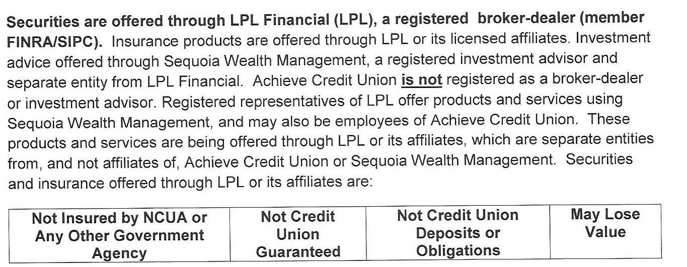 Securities are offered through LPL Financial.